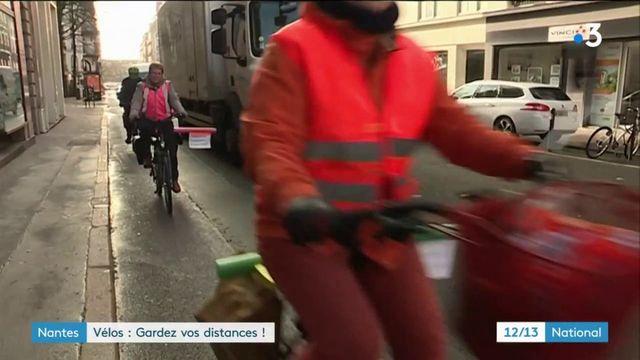 A Nantes, une opération pour sensibiliser aux règles de sécurité entre automobilistes et cyclistes