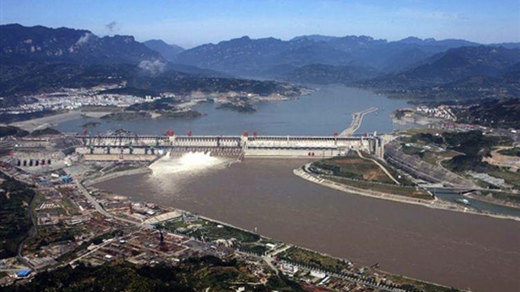 Le barrage des Trois-georges, dans le centre de la Chine (© AFP:STR)