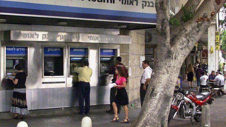 La banque Leumi fait partie des établissements bancaires israéliens touchés par une attaque de hackers saoudiens en jnavier 2012. (SVEN NACKSTRAND / AFP)