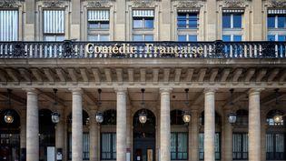 La façade de la Comédie Française à Paris le 25 mai 2020. (MART?N NODA / HANS LUCAS / AFP)