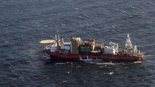Un bateau d'exploitation de diamants au large de la Namibie. (AFP)
