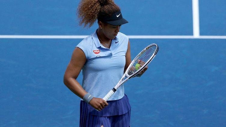 Naomi Osaka lors du deuxième tour du tournoi de Cincinnati, le 18 août 2021. (DYLAN BUELL / GETTY IMAGES NORTH AMERICA / ATP)