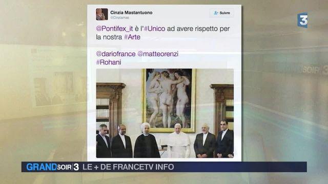 Le + de FranceTV Info - Visite de Rohani à Paris