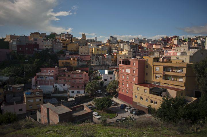 Le quartier El PríncipeàCeuta, le 4 décembre 2014. (JORGE GUERRERO / AFP)