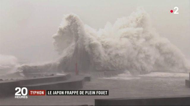 Typhon : le Japon frappé de plein fouet