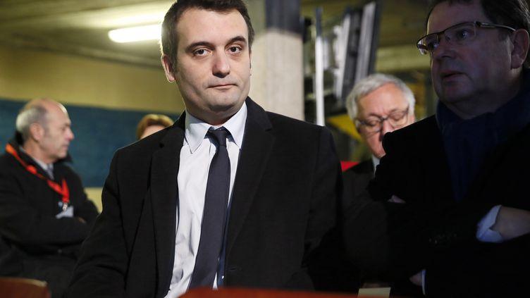 Floriant Philippot, vice-président du FN, à Uckange (Moselle), le 24 novembre 2014. (PATRICK KOVARIK / AFP)