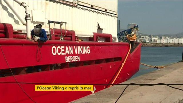 Migrants : l'Ocean Viking a repris la mer