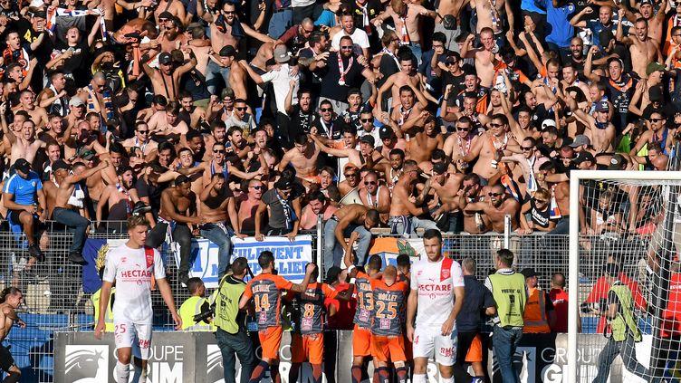 Pour Montpellier, huis clos partiel à domicile, pas de supporters à l'extérieur (JEAN MICHEL MART / MAXPPP)