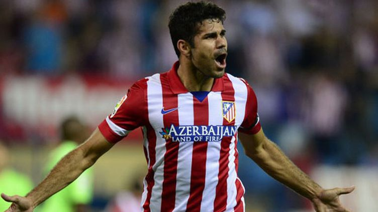 L'attaquant brésilien de l'Atletico Madrid, Diego Costa