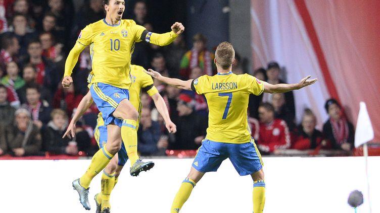 Ibrahimovic a inscrit trois buts sur les deux matches face au Danemark (JONATHAN NACKSTRAND / AFP)