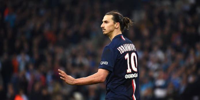 Zlatan Ibrahimovic n'a pas tenu son rang au Vélodrome
