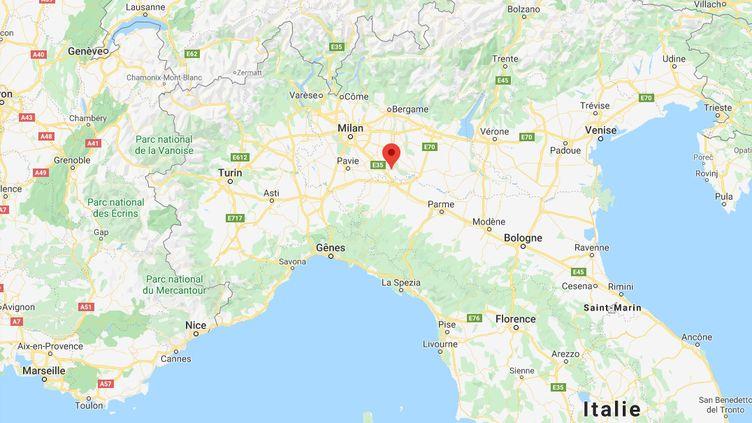 Capture d'écran Google Maps de la ville de Codogno, dans le nord de l'Italie. (GOOGLE MAPS)