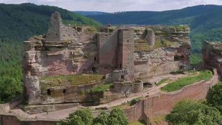 Le territoire des Vosges détient un riche patrimoine naturel et architectural. Le château médiéval deFalkenstein offre par exemple une vue imprenable. (CAPTURE D'ÉCRAN FRANCE 2)