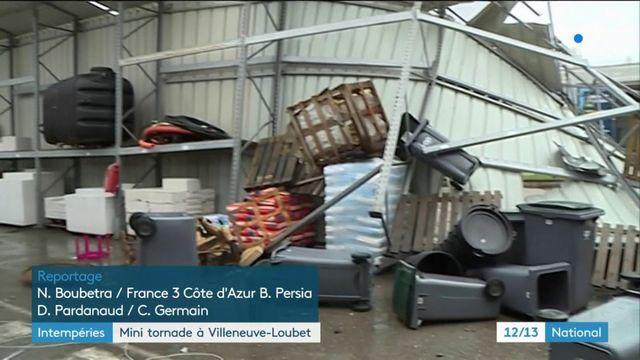Intempéries : mini tornade à Villeneuve-Loubet