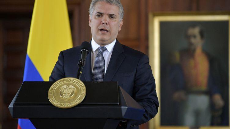 Le président colombien Ivan Duque à Bogota le 12 septembre 2019 (RAUL ARBOLEDA / AFP)