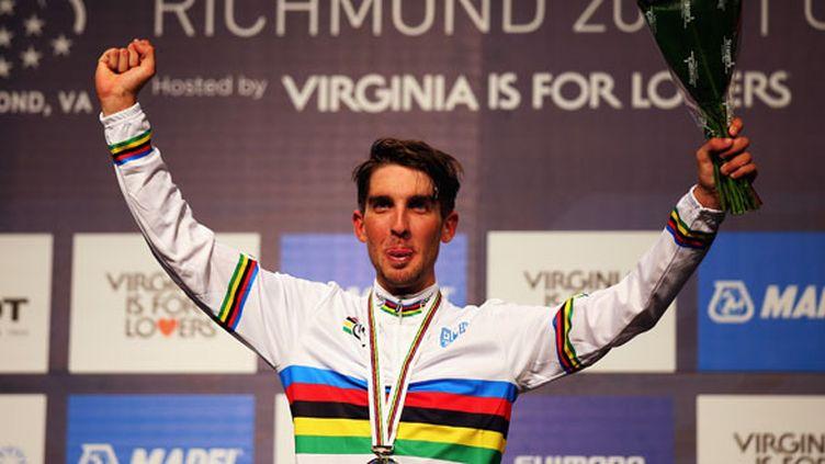 Le jeune cycliste tricolore  Kevin Ledanois