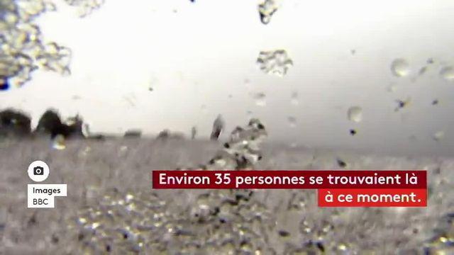 Une dizaine de personnes ont été légèrement blessées, jeudi à la mi-journée, par une pluie de lave et de la vapeur après une explosion sur le volcan en Sicile. Une équipe de la BBC se trouvait parmi elles.