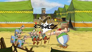 """Premières images du jeu vidéo """"Astérix et Oblélix, baffez-les tous"""", dévoilées par le studio Microids sur YouTube le 24 mars 2021. (FRANCEINFO)"""