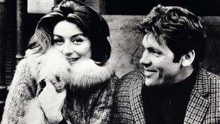 """Anouk Aimée et Pierre Barouh dans """"Un homme et une femme"""" (1966)  (Kobal / The Picture Desk / AFP)"""