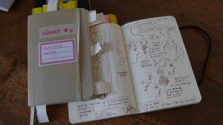 """Croquis de Mathieu Sapin pour l'album """"Gérard""""  (Laurence Houot / Culturebox)"""