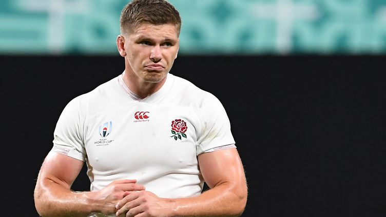 Le trois-quarts centre ou demi d'ouverture anglais Owen Farrell (WILLIAM WEST / AFP)