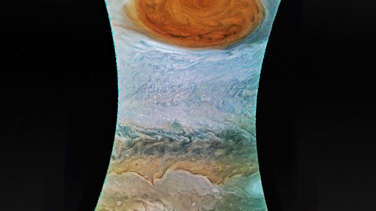 Une image de la Grande Tache rouge de Jupiter diffusée par la Nasa le 12 juillet 2017. (NASA / AFP)