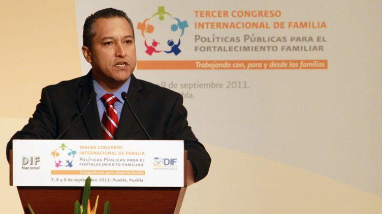 Francisco Blake Mora, le ministre de l'Intérieur mexicain, le 7 septembre 2011 à Mexico. (CARLOS PACHECO / AFP)