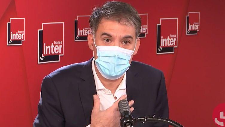 Olivier Faure, Premier secrétaire du PS, sur France Inter le 24 novembre 2020. (FRANCEINTER / RADIOFRANCE)