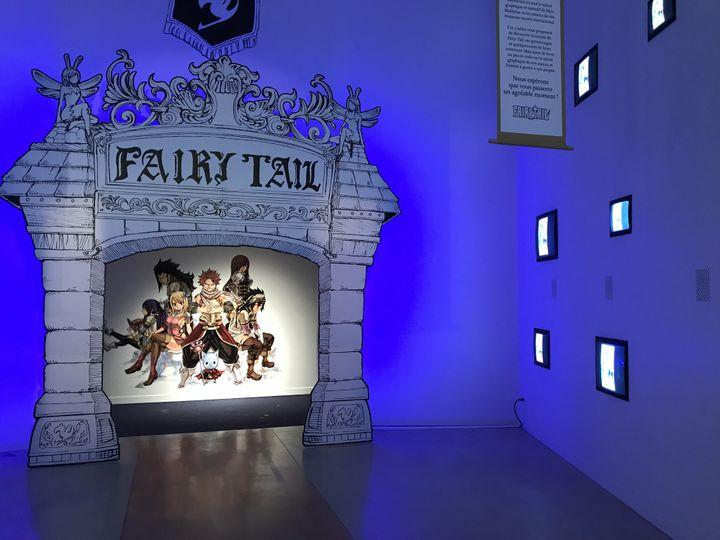 """Entrée dans l'exposition Fairy Tail"""", Angoulême 2018  (Laurence Houot / Culturebox)"""