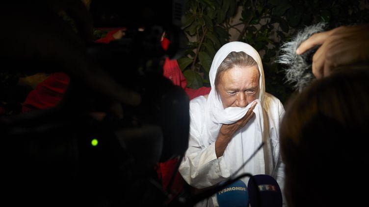 Sophie Petronin, 75 ans, a été libérée jeudi 8 octobreaprès avoir étéretenue en otage au Malipendantprès de quatre ans. (STRINGER / AFP)