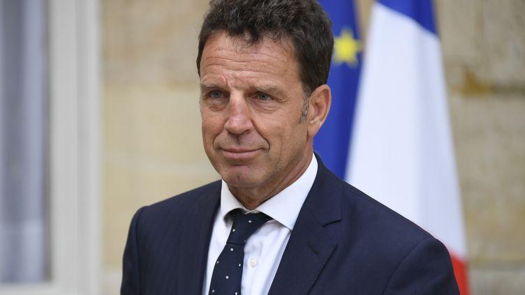Le président du Medef, Geoffroy Roux de Bezieux, le 30 août 2018, à Paris. (BERTRAND GUAY / AFP)