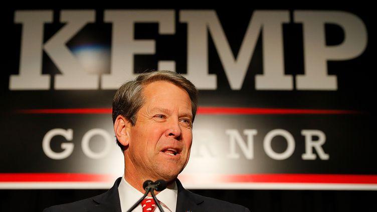 Brian Kemp, le gouverneur de la Géorgie a ratifié une loi interdisant l'avortement dès que les battements du coeur du foetus sont perceptibles. (KEVIN C. COX / GETTY IMAGES NORTH AMERICA)