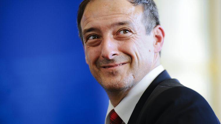 Pierre Hanotaux, nouveau directeur général de l'Audiovisuel extérieur français, le 28 septembre à Paris. (CHRISTOPHE MORIN / MAXPPP)