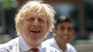 Le Premier ministre britannique, Boris Johnson, à Londres, le 26 juin 2020. (HEATHCLIFF O'MALLEY / POOL / AFP)