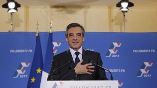 François Fillon après sa victoire à la primaire de la droite, dimanche 27 novembre 2016. (CHRISTIAN HARTMANN / REUTERS)