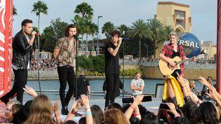Les One Direction sans Zane Malik lors d'un concert à Orlando (Floride) le 17 novembre 2014  ( JD3/WENN.COM/SIPA)