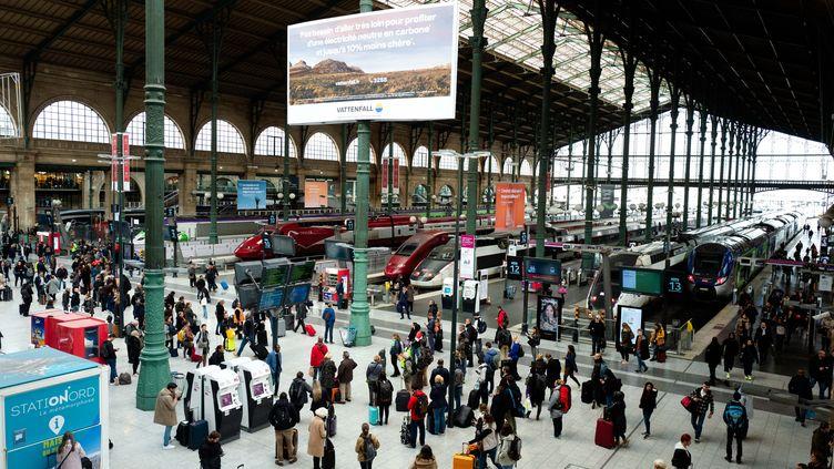 Le hall de la Gare du Nord, le 4 novembre 2019. (EDOUARD RICHARD / HANS LUCAS)