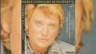 Le 45 tours de «Signes extérieurs de richesse» de Johnny Hallyday en 1983.  (DR)