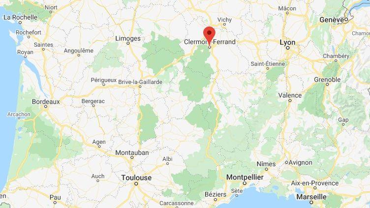 Clermont-Ferrand en Auvergne-Rhône-Alpes. (GOOGLE MAPS)