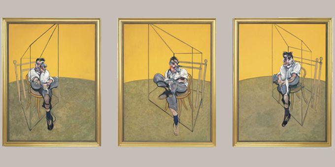 """""""Trois études de Lucian Freud"""", Francis Bacon (1969)  (AP/SIPA)"""