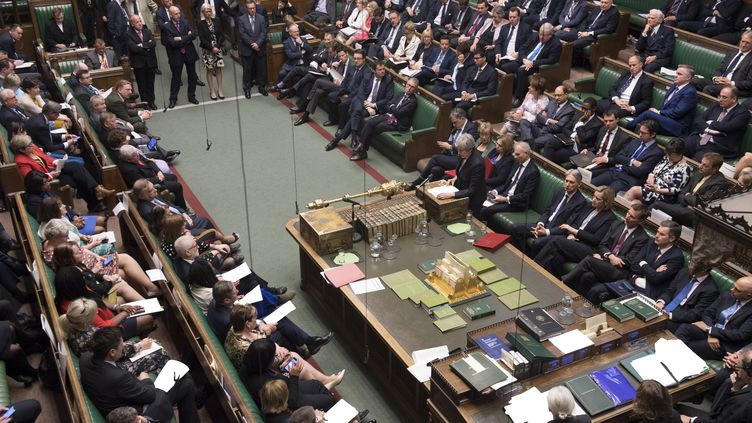 La Chambre des communes, photographiée le 22 mai 2019. (JESSICA TAYLOR / UK PARLIAMENT / AFP)