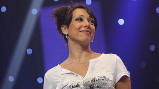 La championne de patinage artistique, Sarah Abitbol à la Nuit des Étoiles à Belfort, 2013. (LIONEL VADAM / MAXPPP)