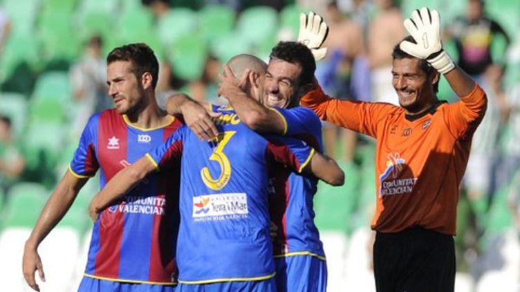 Les joueurs de Levante heureux