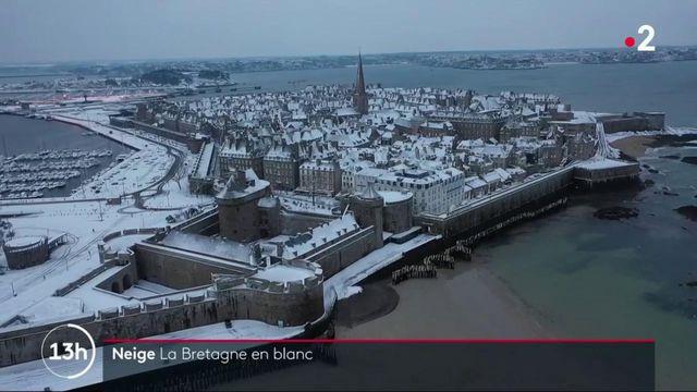 Bretagne : féérie d'une région plongée sous la neige