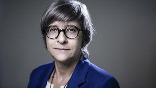 Catherine Guillouard,présidente de la RATP, le 28 août 2018. (JOEL SAGET / AFP)