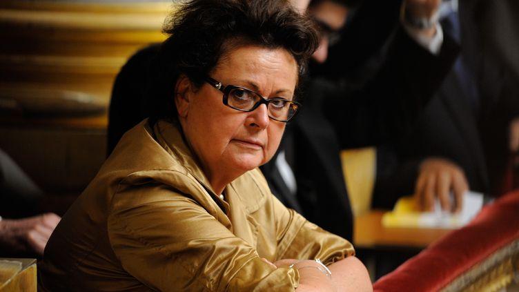 La présidente du Parti chrétien-démocrate continue de demander à François Hollande un référendum sur la question du mariage des homosexuels. (WITT/SIPA)