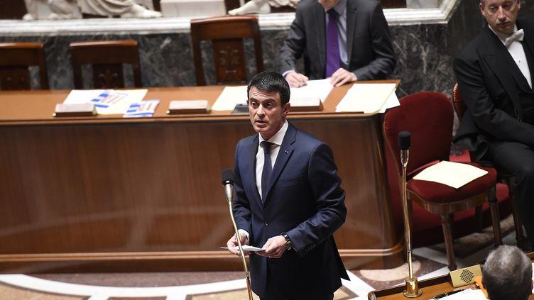 Le Premier ministre, Manuel Valls, à l'Assemblée nationale le 5 février 2016. (LIONEL BONAVENTURE / AFP)