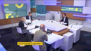 Les informés du lundi 12 avril 2021 : Marc Fauvelle et Renaud Dély,Carole Barjon, éditorialiste politique à L'Obs etJean-Jérôme Bertolus, chef du service politique de franceinfo. (FRANCEINFO)