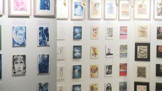 Les différents tableaux exposés lors de la troisième édition du 111 des Arts de Lille. (France 3 Nord Pas-de-Calais)