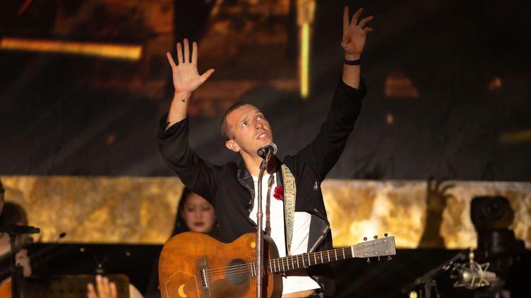 Chris Martin sur scène avec son groupe Coldplay le 20 janvier 2020 à Los Angeles, au Palladium, à l'occasion du Martin Luther King Day (CHRISTOPHER POLK / VARIETY / REX / SIPA / SHUTTERSTOCK)